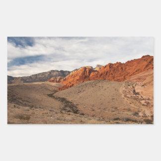 Rocas rojas brillantes; Ningún texto Pegatina Rectangular