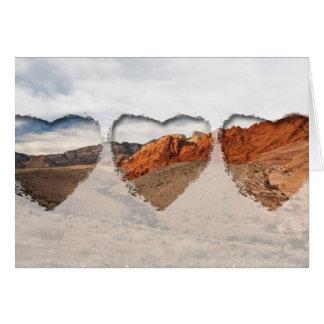 Rocas rojas brillantes; Ningún texto Tarjeta De Felicitación