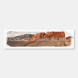 Rocas rojas brillantes; Personalizable Pegatina De Parachoque
