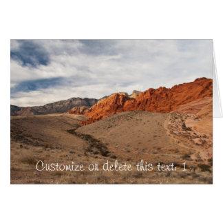 Rocas rojas brillantes; Personalizable Tarjeta De Felicitación
