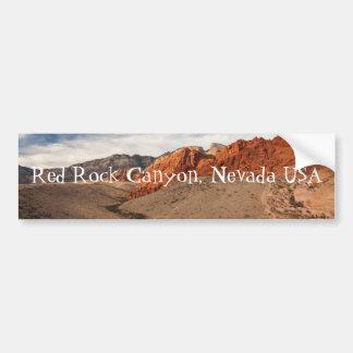 Rocas rojas brillantes; Recuerdo de Nevada Pegatina De Parachoque