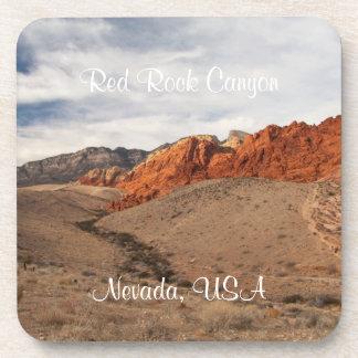 Rocas rojas brillantes; Recuerdo de Nevada Posavasos De Bebidas