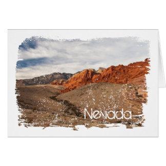 Rocas rojas brillantes; Recuerdo de Nevada Tarjeta De Felicitación