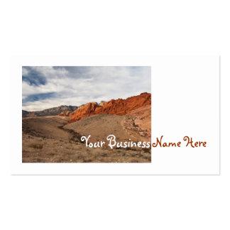 Rocas rojas brillantes tarjetas de visita