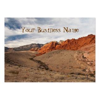 Rocas rojas brillantes tarjetas de visita grandes