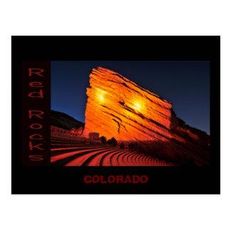 rocas rojas, COLORADO Tarjeta Postal