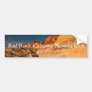 Rocas rojas de la silla de montar; Recuerdo de Nev Pegatina De Parachoque