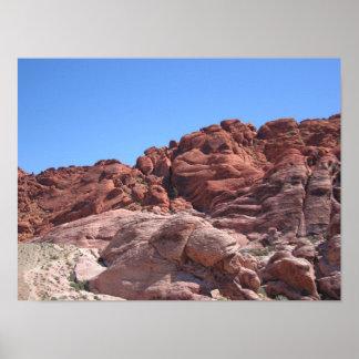 Rocas rojas de Las Vegas Póster