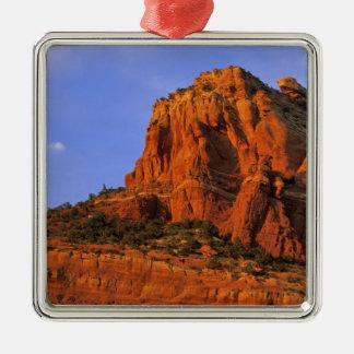 Rocas rojas en el barranco esterlina en Sedona Adorno Navideño Cuadrado De Metal