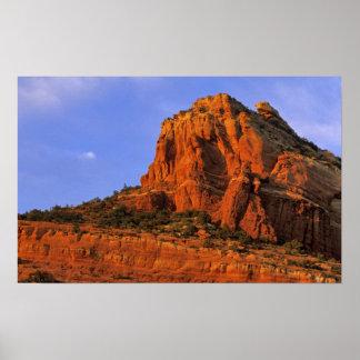 Rocas rojas en el barranco esterlina en Sedona Ari Impresiones