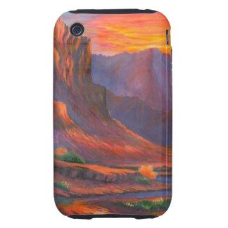 Rocas rojas funda resistente para iPhone 3