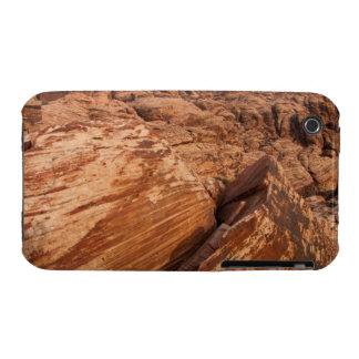 Rocas rojas rayadas funda para iPhone 3