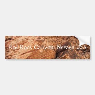 Rocas rojas rayadas; Recuerdo de Nevada Pegatina De Parachoque