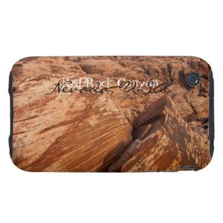 Rocas rojas rayadas; Recuerdo de Nevada Funda Resistente Para iPhone 3
