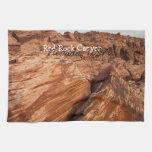 Rocas rojas rayadas; Recuerdo de Nevada Toalla De Mano