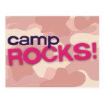 ¡ROCAS rosadas del CAMPO de Camo! Postal