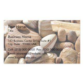 Rocas secas del río tarjetas de visita