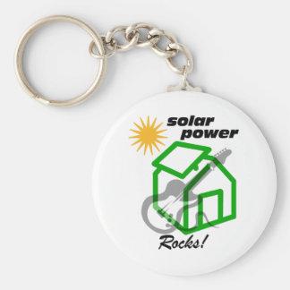 ¡Rocas solares de p0wer! Llavero Redondo Tipo Pin