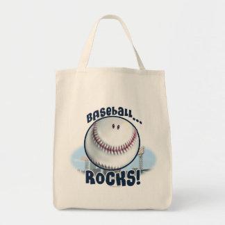 Rocas sonrientes del béisbol por los estudios de M Bolsa Tela Para La Compra