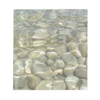 Rocas subacuáticas bloc de notas
