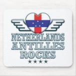 Rocas v2 de Antillas holandesas Alfombrillas De Ratones