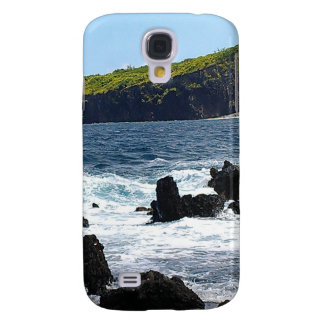 Rocas volcánicas en la costa de Maui Funda Para Galaxy S4