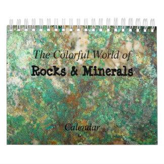 Rocas y calendario personalizado de los minerales