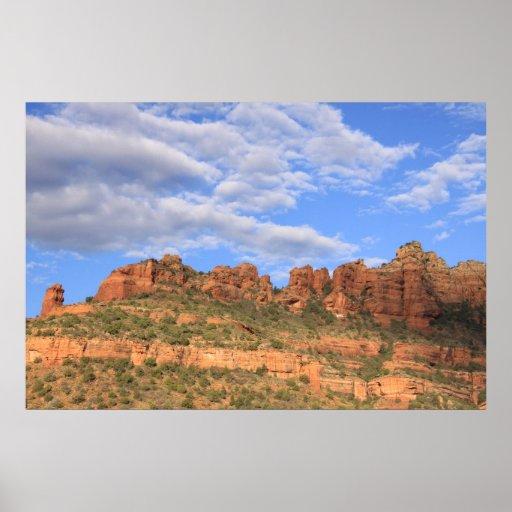 Rocas y cielo de Sedona Impresiones