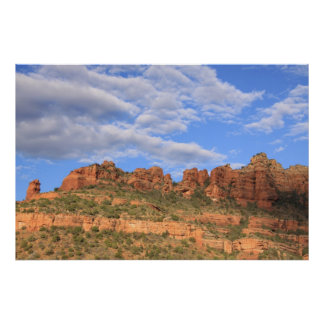 Rocas y cielo de Sedona Póster