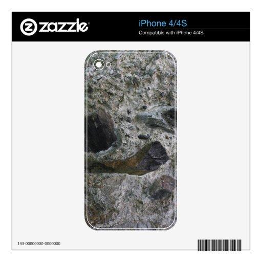 Rocas y mortero iPhone 4 calcomanías