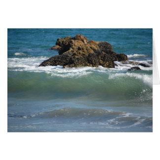 Rocas y ondas, tarjeta de nota