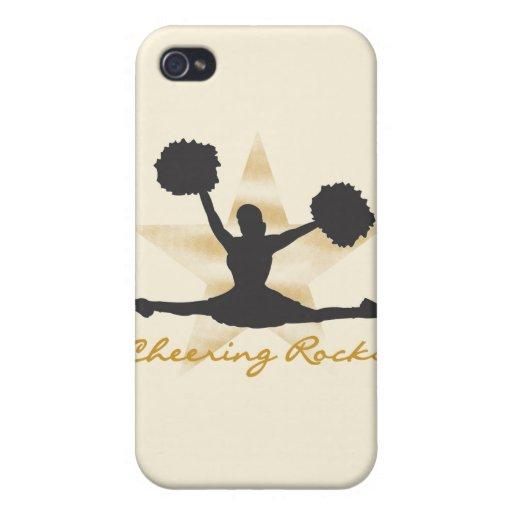 Rocas y regalos que animan del oro iPhone 4 carcasas
