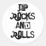 Rocas y Rolls de JP Etiquetas Redondas