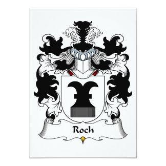 Roch Family Crest Card