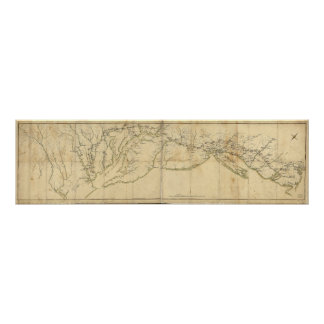 Rochambeau's March from Yorktown to Boston Map Poster