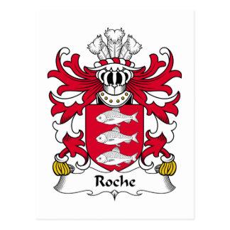 Roche Family Crest Postcard