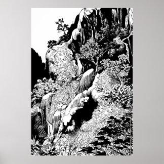 Rochedos e Lobo Guará Poster