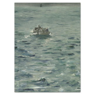 "Rochefort's Escape by Edouard Manet 17"" X 23"" Tissue Paper"