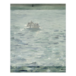 Rochefort's Escape by Edouard Manet Flyer