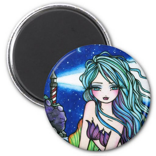 Rochelle Mermaid Fantasy Fairy Lighthouse Fridge Magnets