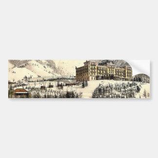Rochers de Naye, and Hotel de Caux, in winter, Gen Bumper Stickers