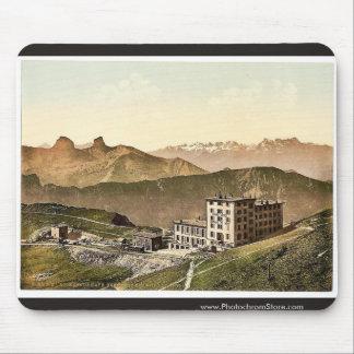 Rochers de Naye Grand Hotel, and railroad, Geneva Mouse Pad