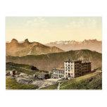 Rochers de Naye Grand Hotel, and railroad, Geneva Postcards