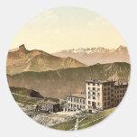 Rochers de Naye Grand Hotel, and railroad, Geneva Sticker