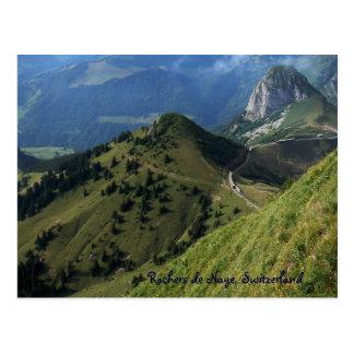 Rochers de Naye Suiza Tarjeta Postal