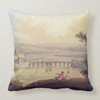 Rochester, 1799 (oil on canvas) throw pillow