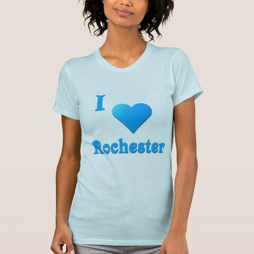 Rochester -- Azul de cielo Camisetas