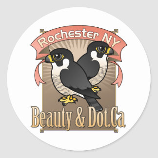 Rochester Beauty & Dot.Ca Classic Round Sticker