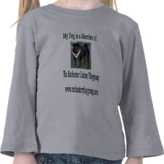 rochester canine playgroup zena t-shirts