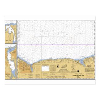 Rochester, carta náutica de NY el lago Ontario Postales